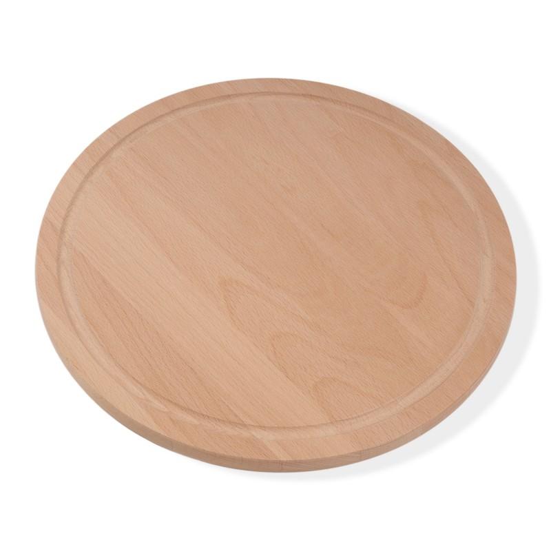 Pizza board breakfast board round diameter 32 cm 1.5 cm thick beech steamed