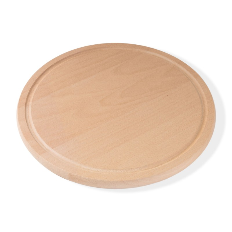 76/5000 Pizza board breakfast board round diameter 36 cm 1.9 cm thick beech steamed