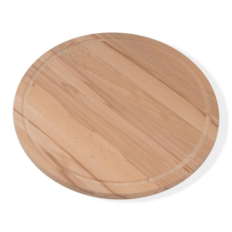 Pizza board breakfast board round diameter 36 cm 1.9 cm thick core beech
