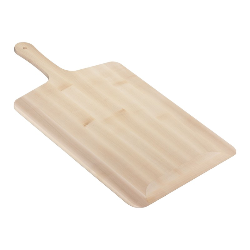 Pizza scraper made of solid wood 36 x 61.5 x 1.1 cm, maple worktop 36 x 43 cm