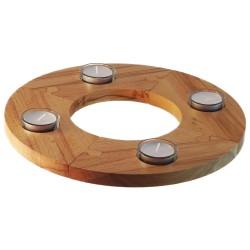 Adventskranz aus natürlichem Holz, individuell steckbar