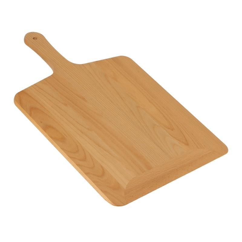 B-Ware, Pizzaschieber aus Massivholz 33 x 51,5 x 1,1 cm, Buche Arbeitsfläche 33 x 36 cm