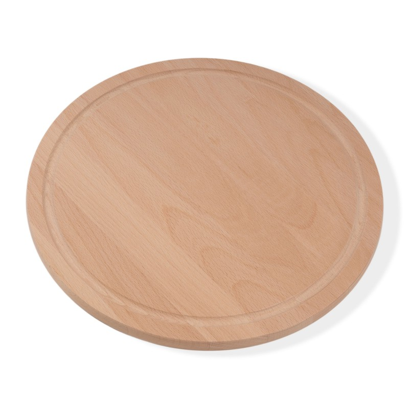 copy of Pizza board breakfast board round diameter 32 cm 1.5 cm thick beech steamed