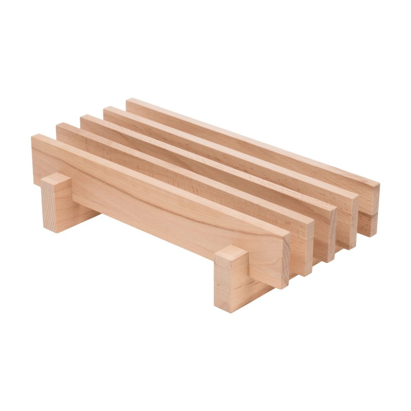 Cutting board stand for pizza boards or cutting boards, beech